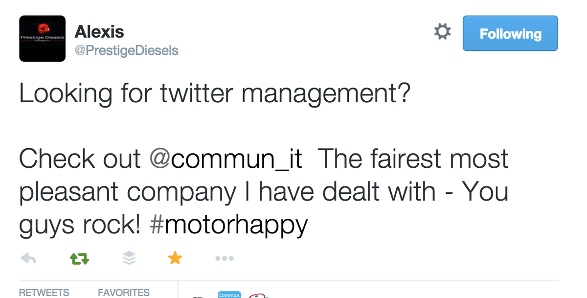 "Yes :) ""@PrestigeDiesels: @commun_it  The fairest, most pleasant company I have dealt with!"" http://t.co/7rNANFEG8z"