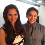 RT @MadhuriDixit: Great hanging out with @MirzaSania! http://t.co/DjCI3LweXf
