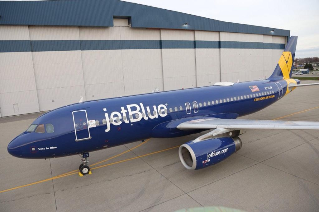 Another proud day to work for @JetBlue as we unveil a new livery...honoring our Veterans. #VetsInBlue http://t.co/TtvEPOqmId