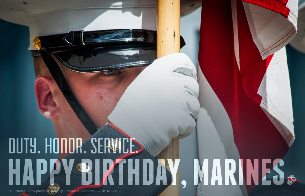 Happy 239th birthday to the @USMC!  #SemperFi http://t.co/o4ltzPV6Xz