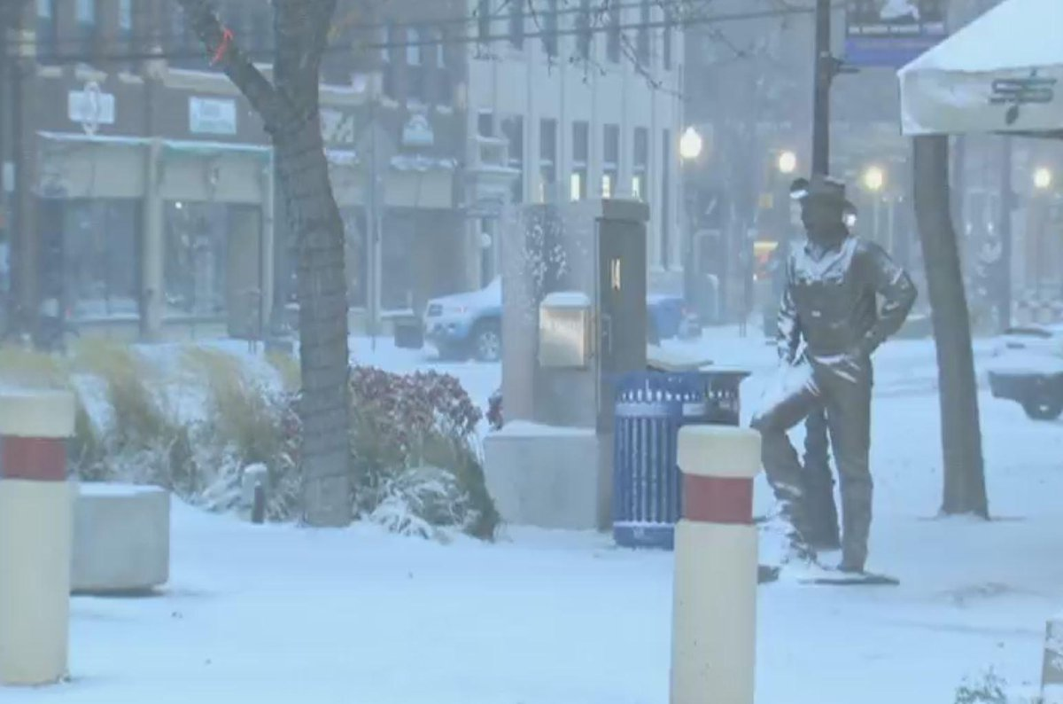 Still From Nbc Live Cam In Rapid City Sd Snow Headed To Denver