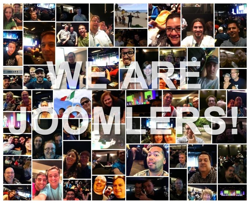 "Wow, so many #jselfie's posted during my ""We are Joomlers!"" keynote! Proud on our community of #joomlers! #jwc14 http://t.co/JQVRvV1d1o"