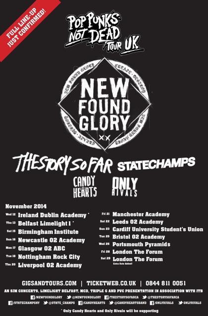 ?@XChadballX: Pop Punks Not Dead UK Tour! http://t.co/6RnyYG7b4X http://t.co/QjVixAOqRf? @AdamJonesey I'm not here for 21st but Liverpool??