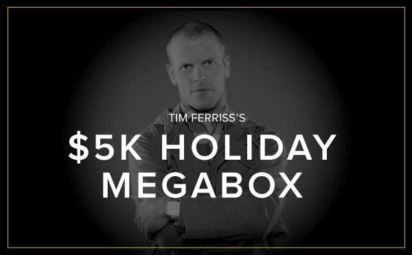 Tomorrow is the last day for @tferriss's $5K MegaBox! Treat yourself to one crazy adventure - http://t.co/ng4lA76bFX http://t.co/ccVeXQUqhR
