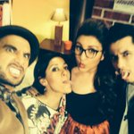 @AliZafarsays @ParineetiChopra @RanveerOfficial selfie time. Who's the weirdest? http://t.co/i4YGwUjClQ