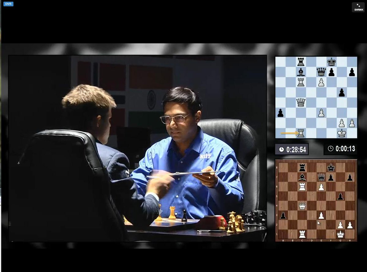 Adorable to watch @vishy64theking try so hard not to smile. What a sportsman! Hello #CarlsenAnand http://t.co/VjlIu7Hpx9