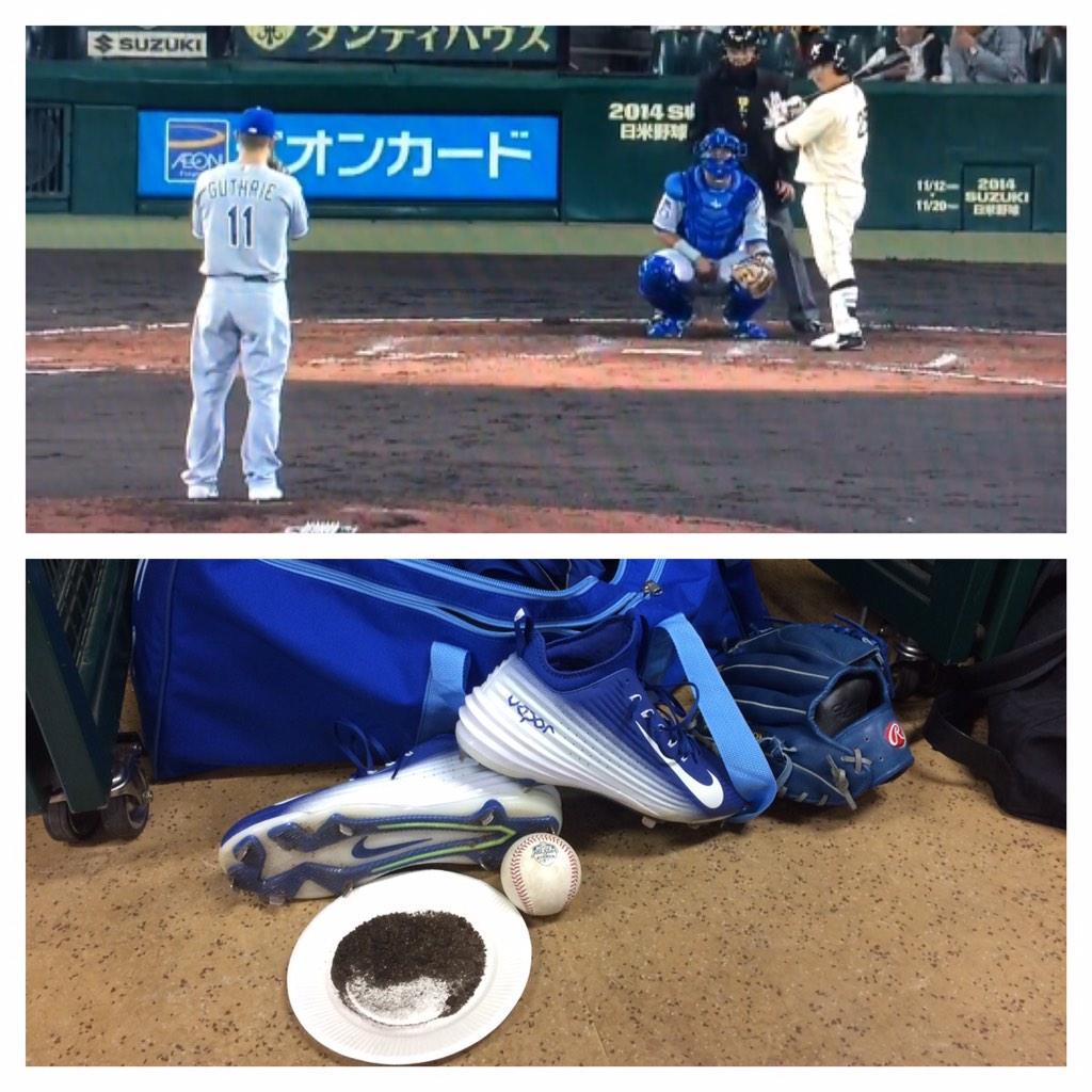 甲子園球場で投げることができ光栄です. #JapanSeries #KoshienStadium http://t.co/D52ZKfAXHF