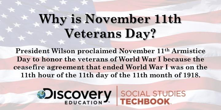 Why is Veterans Day on November 11th? More teaching resources: http://t.co/GCTQE5vbT7 #ExperienceHistory http://t.co/6zKmMhttGK