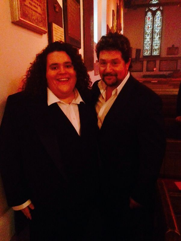 .@JonAntoine with Michael Ball backstage at Songs of Praise! Keep an eye out for Jonathan performing the show #Tenor http://t.co/r3ESQtxUyD