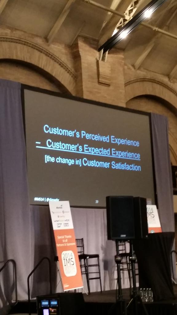 Need to focus on the customer! #customerexperience #ims14 @sliewehr http://t.co/aT7QouqmHG