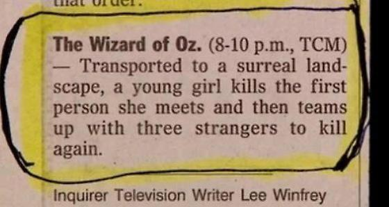 Well that's one way to look at it. #WizardofOz #movies Via http://t.co/yiXA4jmazI http://t.co/JRSjAdYNAc