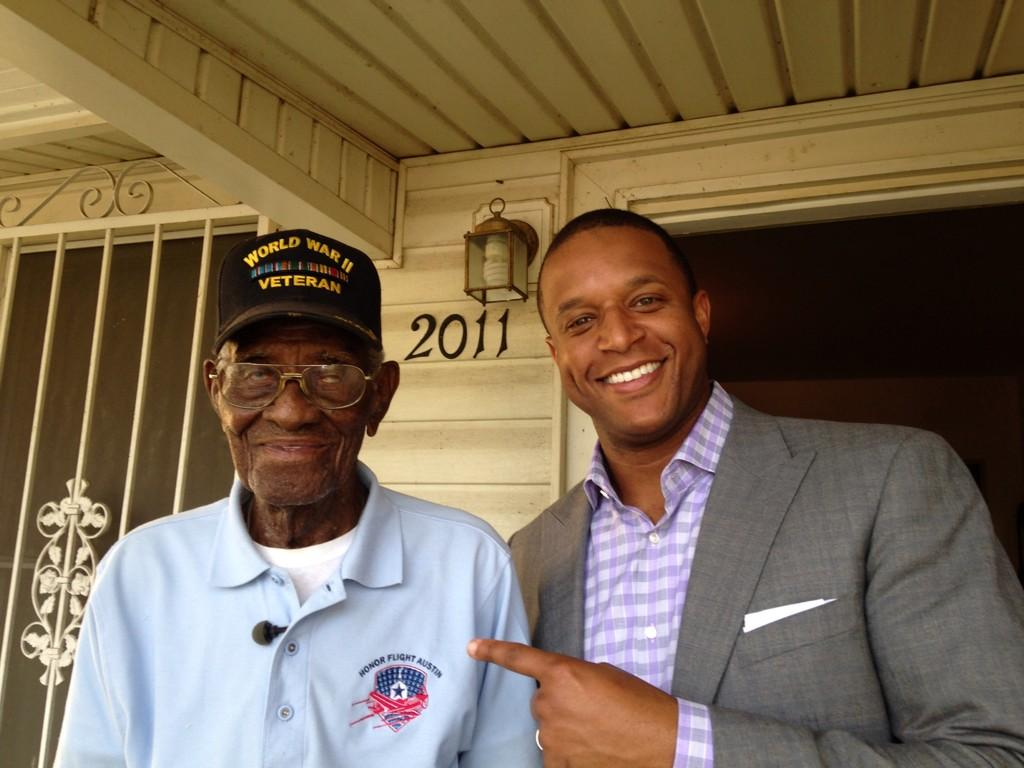 Was honored to spend a day with this man. Richard Overton is 108 yo, making him America's oldest veteran. http://t.co/t5Sl6QRBi5