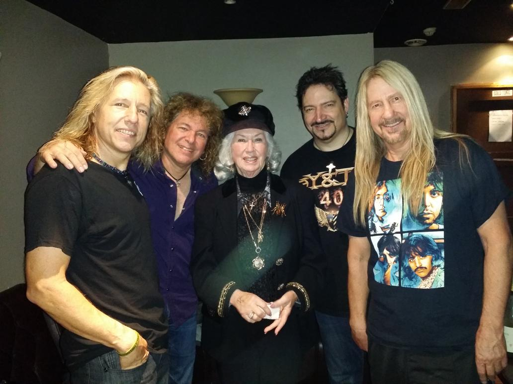 It was an honor to meet the mother of a legend tonight at the Dublin show...Philomena Lynott. http://t.co/23BsjJu62F