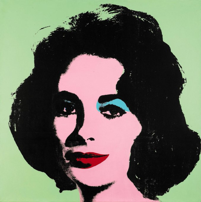 kathy ireland @kathyireland: RT @Sothebys: #AuctionUpdate: Warhol's mint green painting of Hollywood icon Elizabeth Taylor brings $31.5 million http://t.co/TJ7h81EwPJ