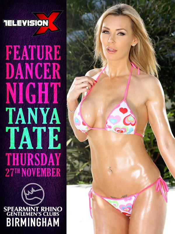 Tanya Tate in UK - 1 night only! See @TanyaTate Thur 27th Nov with Television X @tvxmole #Spearmintrhino http://t.co/e2sOmOdAmV
