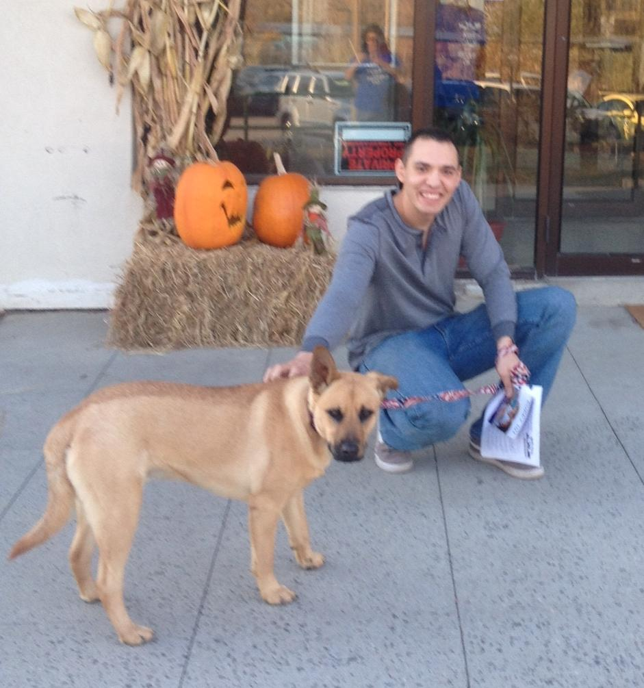 Cooper Adopted by veteran who returned home yesterday from active duty! TY to those who serve and have served!! http://t.co/SDjO546ayY