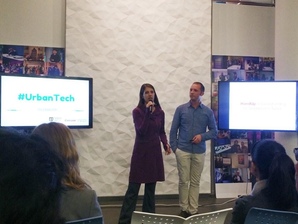 """@HandUp: At #urbantech @rosical and @zacwitte give the lean social impact story of #handup http://t.co/2Z8MQ95Qhq"""