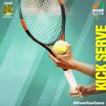 RT @IndianAces: #KnowYourGame A Kick serve is a serve which has a lot of spin that causes the ball to bounce really high!
