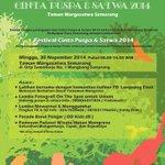 Festival Cinta Puspa dan Satwa | 30 Nov 2014 | Kulineran, Lomba Fotografi,dll | @ Taman Margasatwa Semarang #eventSMG http://t.co/yCScd3jS9G