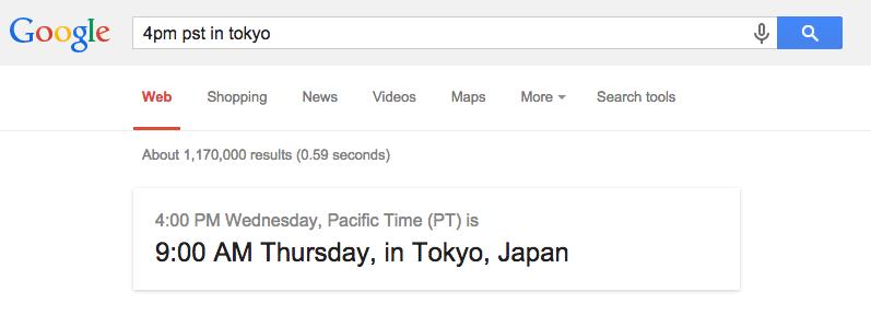 Google search now (finally) does timezone math. :D http://t.co/jsV48seVnX