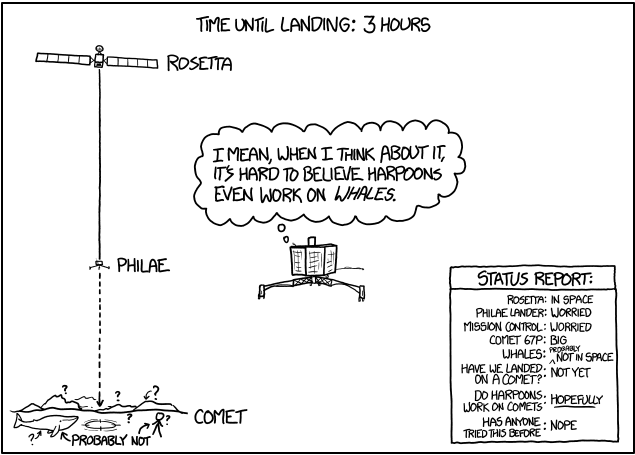 xkcd is live-cartooning #CometLanding. Current status: http://t.co/siVpg8owb2 http://t.co/oBGRC5ehfV