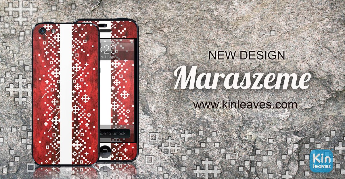 "Welcome new Kin Leaves design ""Maraszeme"" from ""Latvian Signs"" edition!  Finde more in http://t.co/JP7c2Fv9wc http://t.co/OLxfwPyXUw"