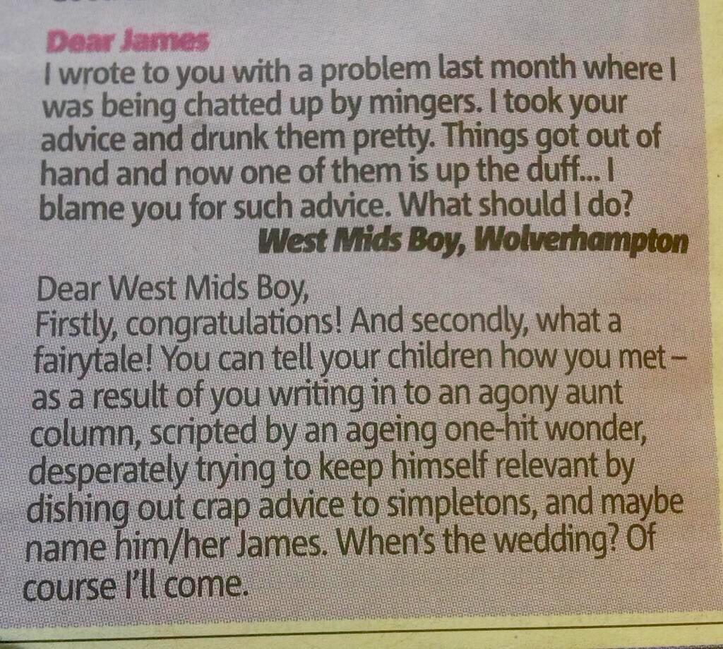 How to write advice columns
