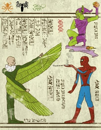 Spiderman in the style of ancient hieroglyphics http://t.co/LtSsDxlduT http://t.co/qjxrCd80M6
