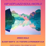 We have our AFRO FUTURISM night every sunday at 7 for all hip-hop/jazz & soul folk. #FreeEntry #Brighton #DrinkDeal http://t.co/saV7UlGpp7