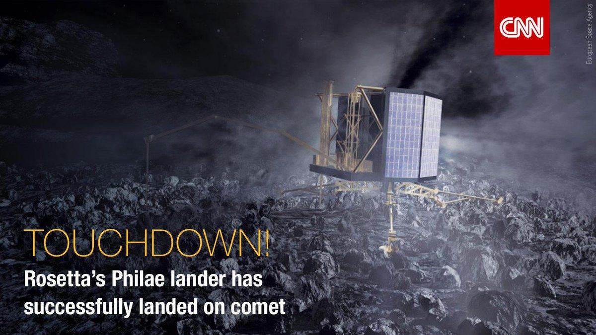 BREAKING: #Rosetta's @Philae2014 has successfully landed on #67P: http://t.co/Too5m8Tk0V #CometLanding http://t.co/OWMHjPkHWG