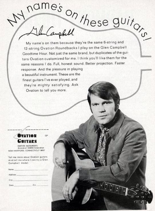 Thanks #VintageGuitars for this very cool @GlenCampbellMOV ad from the '60s. #guitar #music @AcousticGuitar_ http://t.co/HqnS0ZzesB
