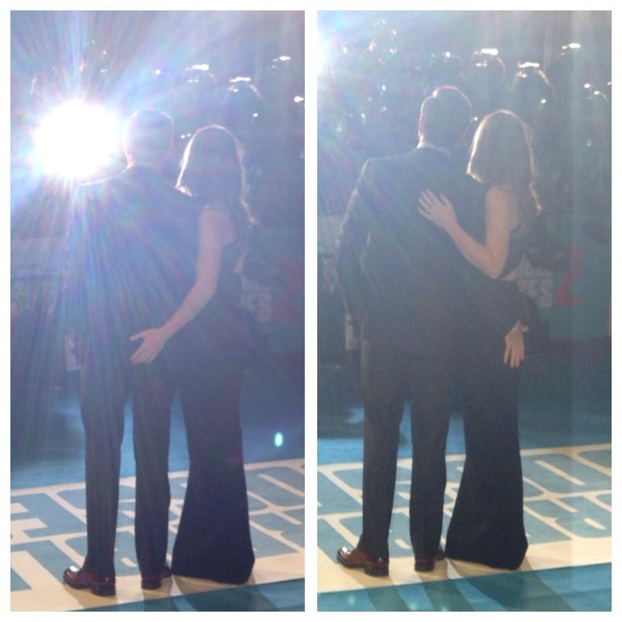 Olivia Wilde and Jason Sudeikis being very cheeky at #HorribleBosses2 premiere 😂😂 http://t.co/hXkp092upL