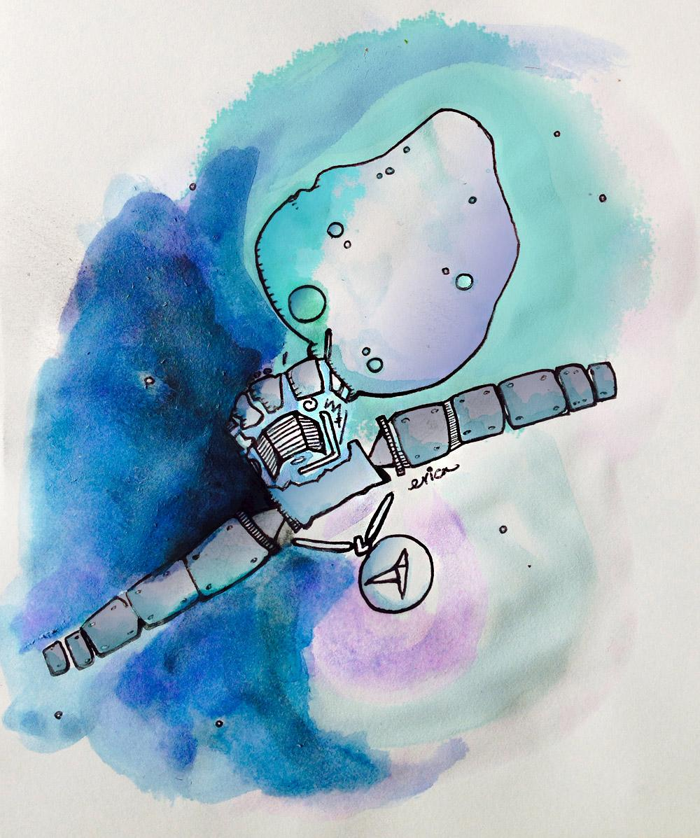 WAY TO GO YOU WICKED SPACECRAFT @Philae2014 / @ESA_Rosetta! #CometLanding http://t.co/OK7tRbcdFI http://t.co/pveE1odROv