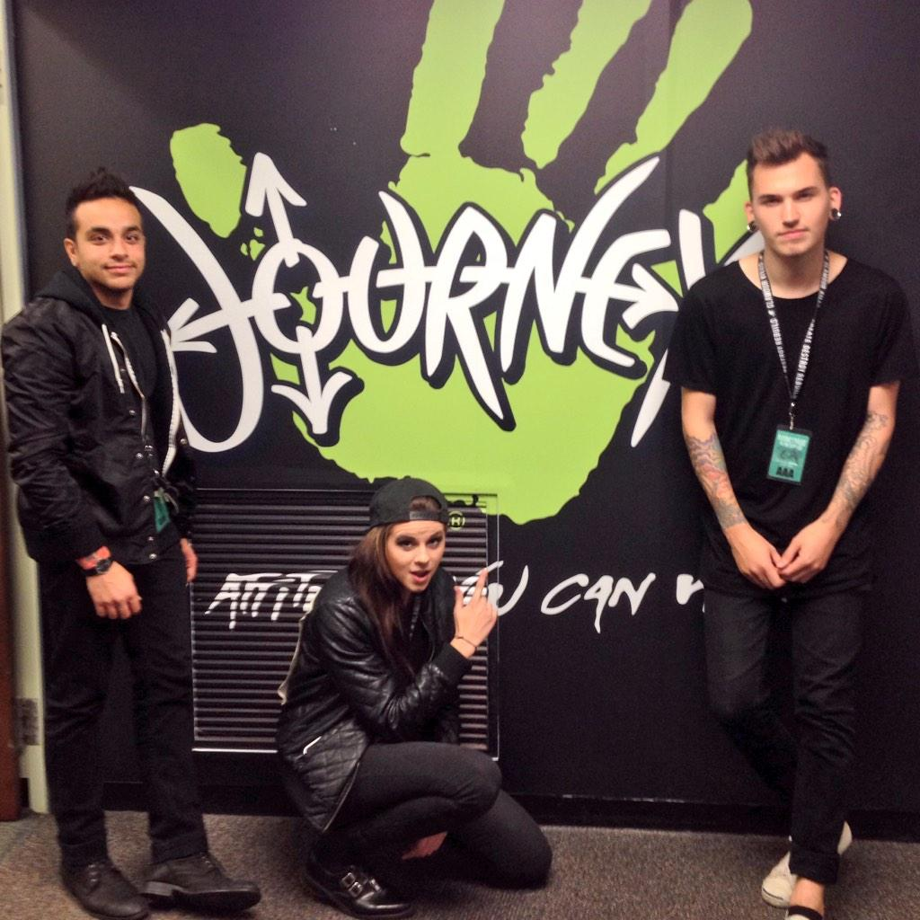Hey @ThisIsPVRIS great hangs today - thanks for dropping by our HQ!!! See u guys again soon. http://t.co/YnK3O81Loq