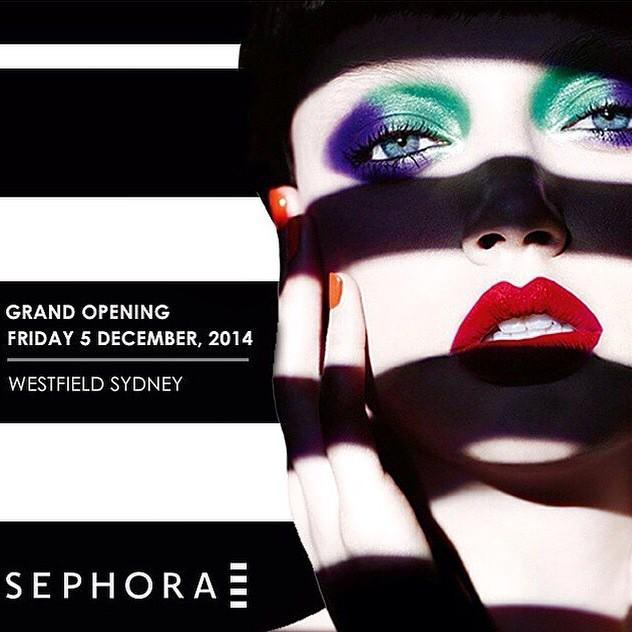 In case you haven't heard - Sephora will be officially opening at Westfield Sydney on Friday 5th December! http://t.co/bkiz7PPW6j
