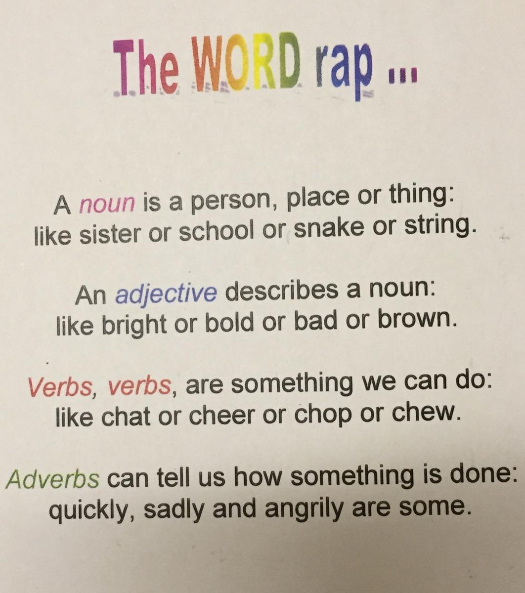 This brilliant SPAG rap will have your kids remembering those definitions! http://t.co/xx76sWs0Py