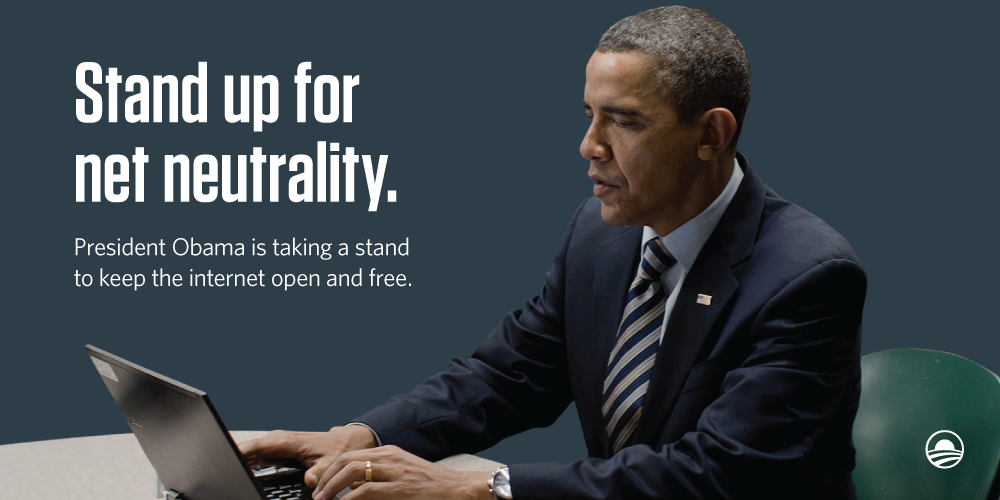 "No blocking websites. No ""fast lane"" deals. More transparency. Stand for #NetNeutrality:  http://t.co/AbLYkV68l9 http://t.co/neTWClt41r"
