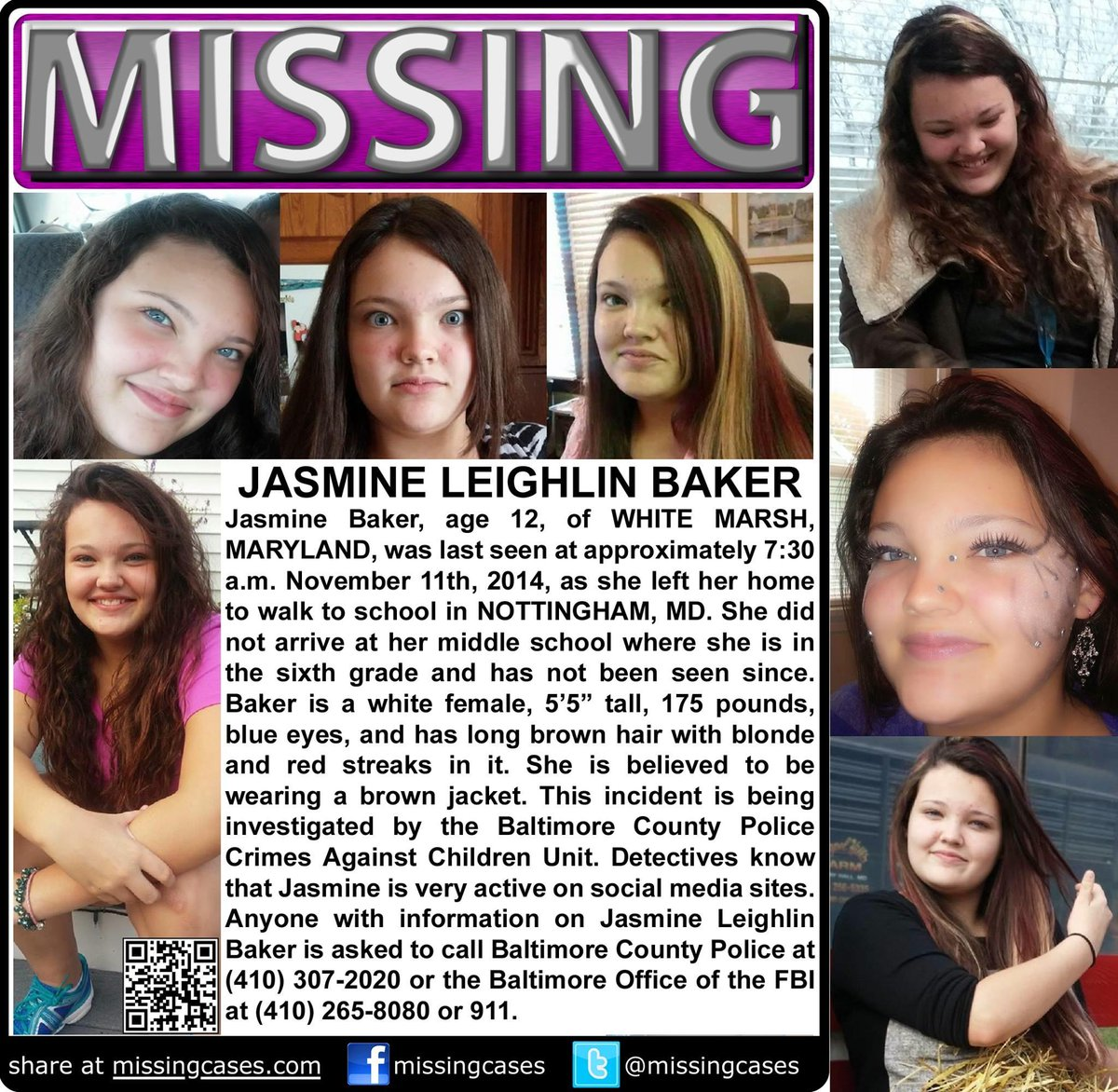 Missing girl- Baltimore area http://t.co/aNRE5hBwrx