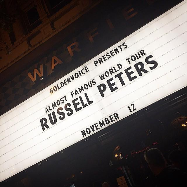 Time for comedy with @therealrussellp. http://t.co/dxAAFzlpBn