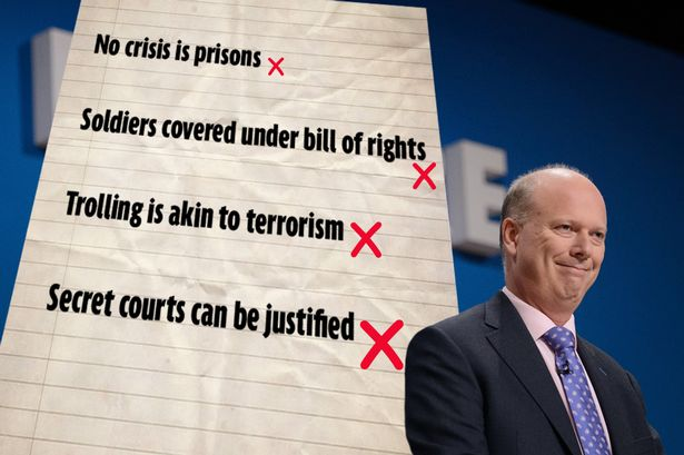 Justice Secretary Chris Grayling is wrong about a lot of things. Here's a list: http://t.co/bS4pUwxxLn http://t.co/Srw6Jos5Z3