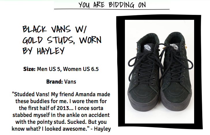 you can buy vans i studded for @yelyahwilliams for a good cause but try & avoid injury maybe. http://t.co/RH69uXj56f http://t.co/qb24BaNyo4