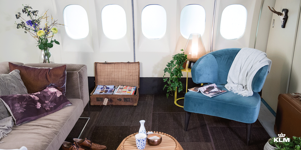 Last call to win a overnight stay in the KLM aircraft loft.