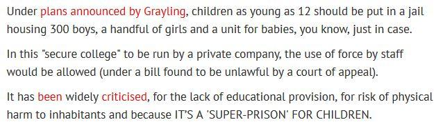 "The @DailyMirror sums up government plans for a ""secure college"" (aka child super-prison) very succinctly today. http://t.co/68uJISx5F9"