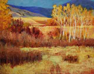 "New #painting: Blue November / 24"" x 30"" / acrylic #landscape #art #hollyfriesen http://t.co/MdJbEDcew0"
