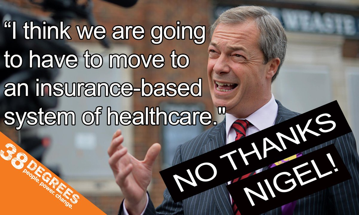 """..we are going to have to move to an insurance-based system of healthcare"" RT if you say no thanks Nigel! #UKIP #NHS http://t.co/m2vbdOVpcF"
