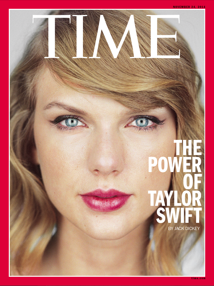 The new cover of TIME: The Power of @taylorswift13. Photo by Martin Schoeller. Story by… me. http://t.co/ER6E62yWnx http://t.co/DhM4AZJnGJ