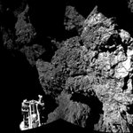 RT @WNTonight: The first photo taken by Philae Lander shows the surface of the comet: http://t.co/vX5K1XcJqE http://t.co/JYHFokdljW