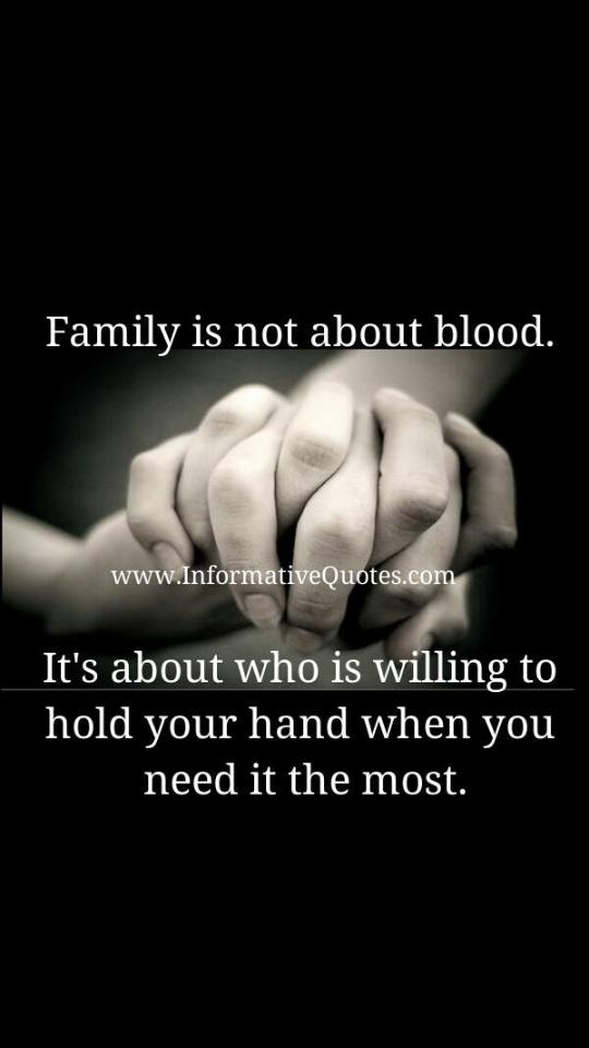 Family Is Not About Blood 60millionmiler Quote Friendship Delectable Quotes About Loyalty And Friendship