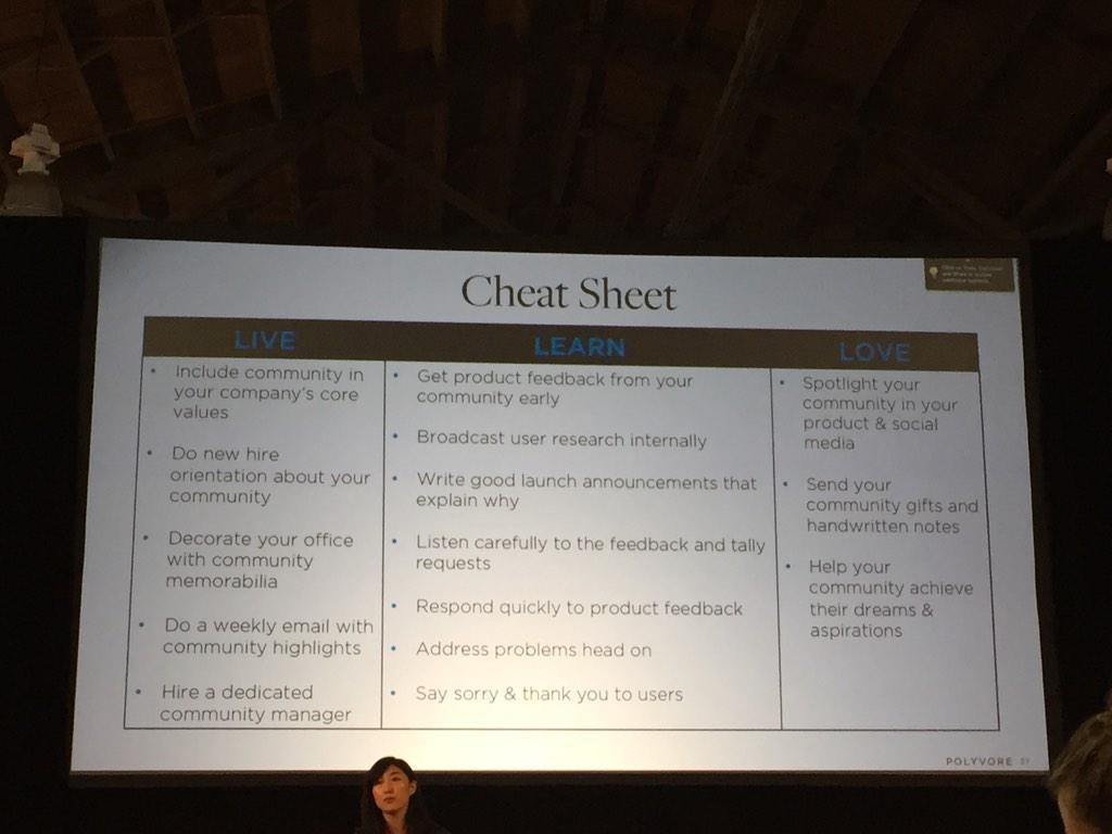 """Awesome """"cheat sheet"""" from @jesskah of @polyvore #cmxsummit http://t.co/RdNgNDksNw"""
