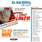""". @Venturaprodart presenta el 22 y 23 de septiembre """"Cuentan y Cantan Simón"""" en el Centro Cultural Chacao http://t.co/48josN1Wr5"""
